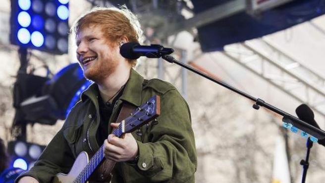 Ed Sheeran en el programa de la NBC Today en Nueva York.