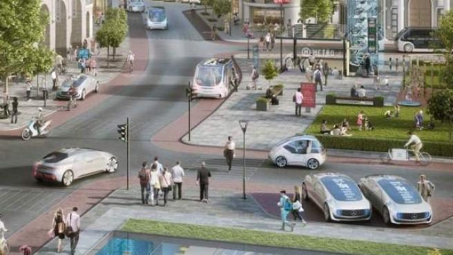 La alianza entre Bosch y Daimler pretende crear sistemas de taxis autónomos.