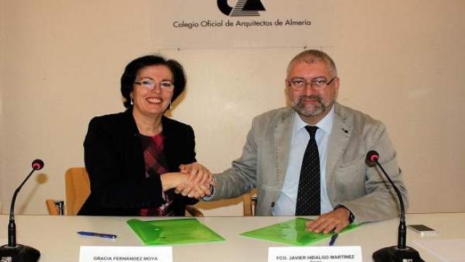 La presidenta del PITA y el decano del Colegio de Arquitectos de Almería