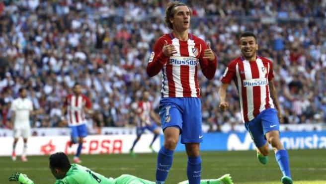 Así celebró Antoine Griezmann su gol ante el Real Madrid.