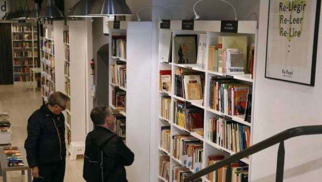 Una de las librerías de la franquicia Re-Read, en Barcelona.