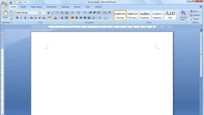 Microsoft Word 2007.