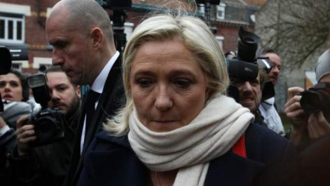 La presidenta del ultraderechista Frente Nacional francés, Marine Le Pen.