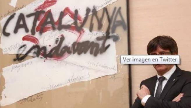 Imagen del president Carles Puigdemont.