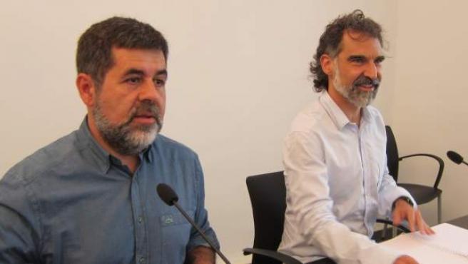 Jordi Sànchez, presidente de la ANC y Jordi Cuixart, presidente de Òmnium Cultural.