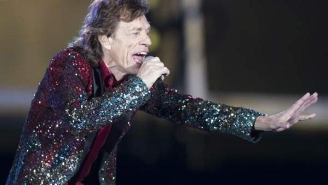 El cantante de los Rolling Stones, Mick Jagger, en uno de sus conciertos en México.