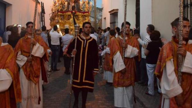Procesión durante la Semana Santa de Utrera (Sevilla).