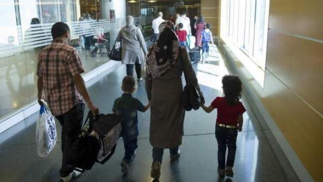 Llegada de refugiados a España.