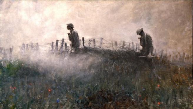 Óleo de Harvey Thomas Dunn, uno de los artistas-soldados de los EE UU en la I Guerra Mundial
