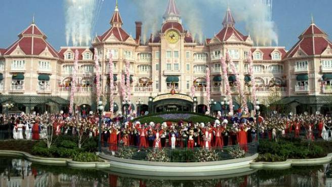 Inauguración de Disneyland París en 1992.