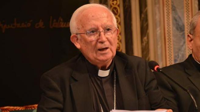 El cardenal arzobispo de València, Antonio Cañizares.