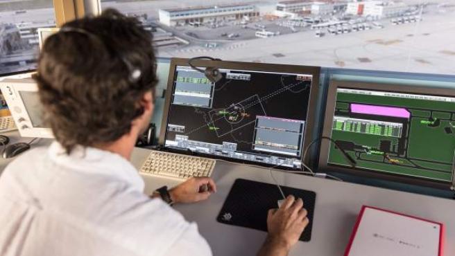Un controlador aéreo, en una imagen de archivo.