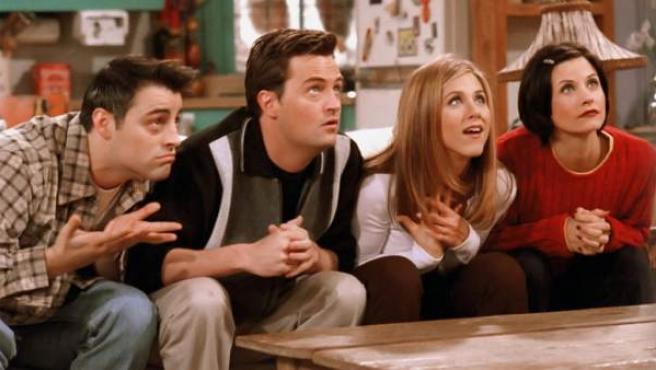 Una imagen de cuatro de los protagonistas de la mítica serie 'Friends'.