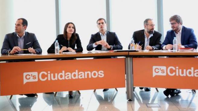 Albert Rivera preside la Ejecutiva Nacional de Ciudadanos.