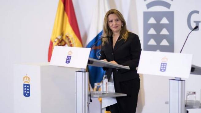 Rosa Dávila, consejera de Hacienda en rueda de prensa tras el consejo de Gobiern