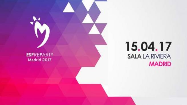 Cartel que anuncia el Eurovision Spain Pre-Party.