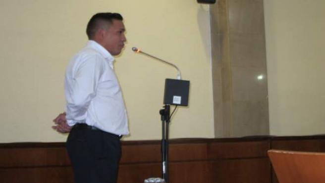 El acusado declarando en la Audiencia