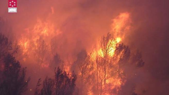 Incendio En La Sierra De Irta