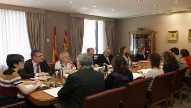 La Mesa y la Junta de Portavoces de las Cortes de Aragón