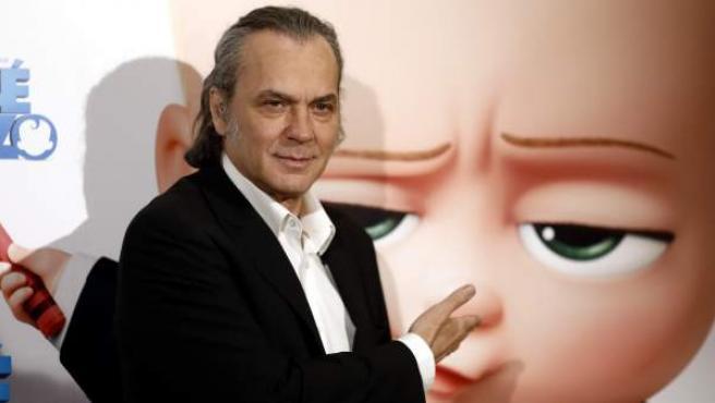 José Coronado, en la presentación de la película 'El bebé jefazo', donde pone voz al protagonista.