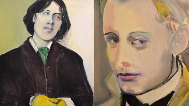 Oscar Wilde y su amante, 'Bosie' Douglas, pintados por Marlene Dumas