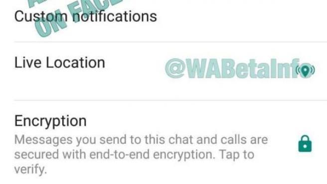 Icono de geolocalización en tiempo real para chats de WhatsApp que la compañía está empezando a probar en su última actualización de la versión beta para Android.