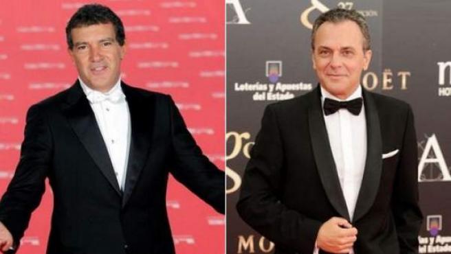 Los actores Antonio Banderas y José Coronado, en imágenes de archivo.