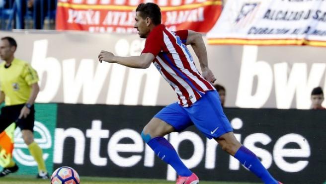 Cerci, en acción con el Atlético de Madrid.