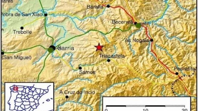 Terremoto en Triacastela (Lugo)