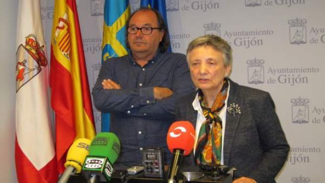 Suárez Y Ortega En Rueda De Prensa.