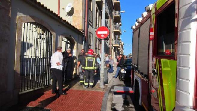 Bomberos en la ciudad de Salamanca