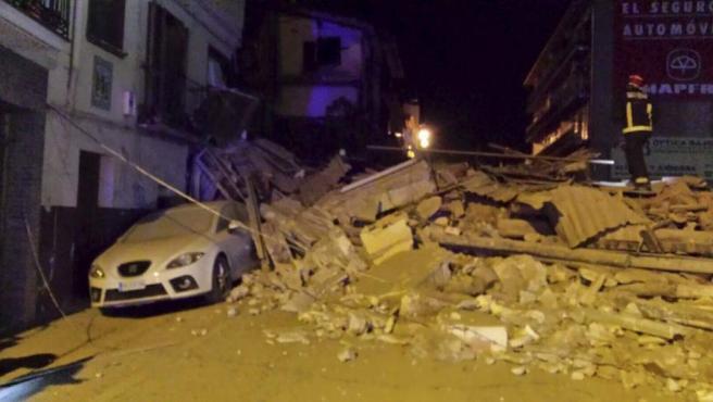 Fotografía del los daños que ha sufrido el cerro de Pui Pinos de la ciudad turolense de Alcañiz.