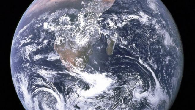 Imagen del planeta Tierra visto desde el espacio.
