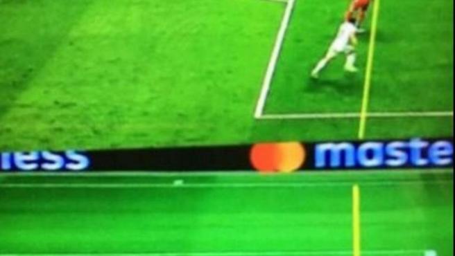 Ribery dibuja los fuera de juego del Madrid.