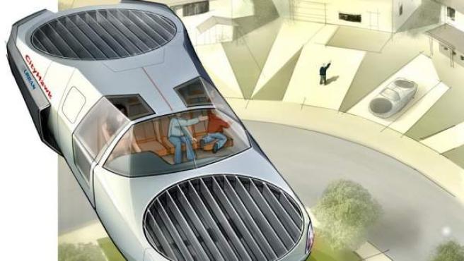 El proyecto de coche volador podría llevar cuatro pasajeros y requeriría inicialmente de un piloto humano.