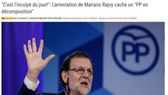 Mariano Rajoy, arrestado para esta web belga.