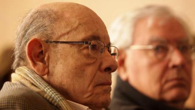 En la imagen, Fèlix Millet, en el banquillo de los acusados, a su lado Jordi Montull.