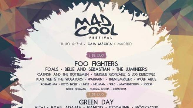 Cartel del Mad Cool Festival 2017.
