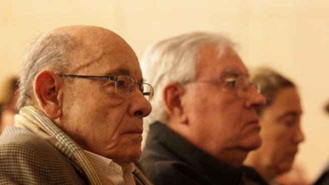 En la imagen Fèlix Millet y Jordi Montull en el juicio del caso Palau