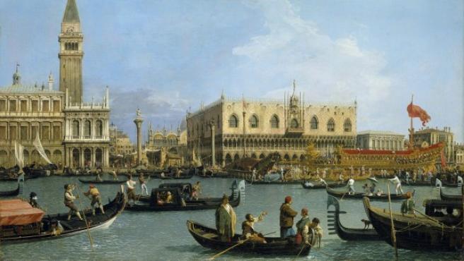 La plaza de San Marcos en el día de la Ascensión, una de las más famosas 'vedutas' de Canaletto