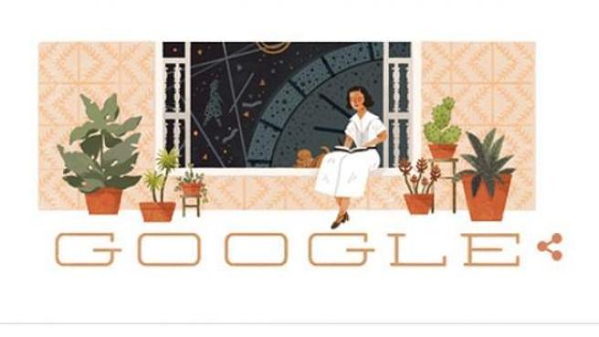 Doodle de Google sobre la escritora, filósofa y ensayista María Zambrano.