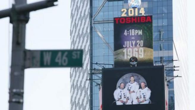 Una imagen de publicidad de Toshiba en Times Square (NY, EE UU).