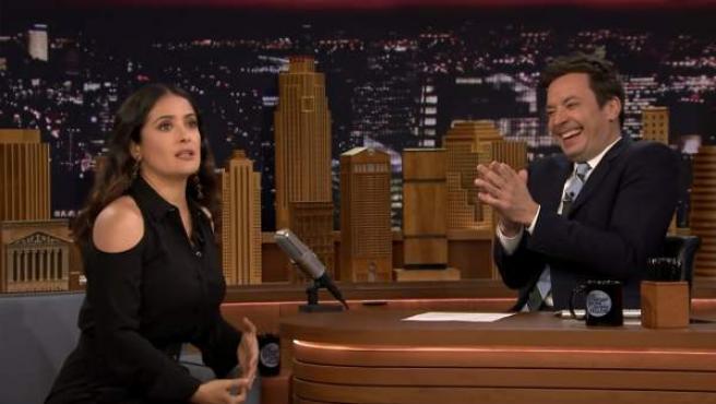 Salma Hayek cuenta la anécdota en 'The Tonight Show Starring Jimmy Fallon'.