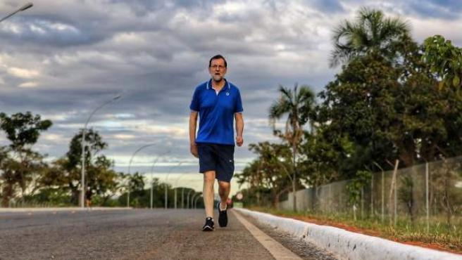 Mariano Rajoy, en Brasilia este lunes.