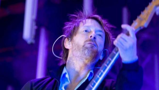 Thom Yorke, el cantante de la banda británica Radiohead, durante un concierto.