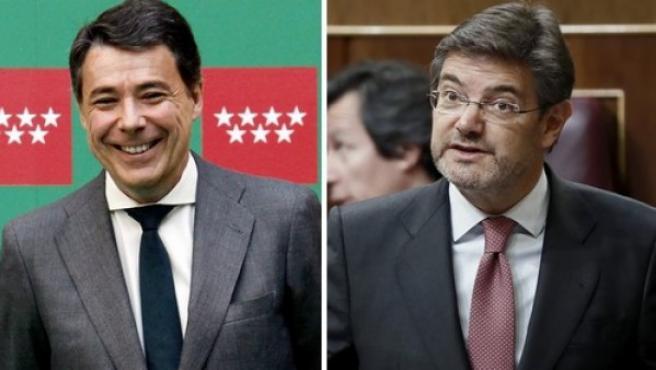Gonzalez y Catala, en dos imágenes de archivo.