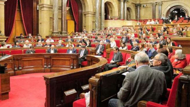 Un pleno del Parlament.