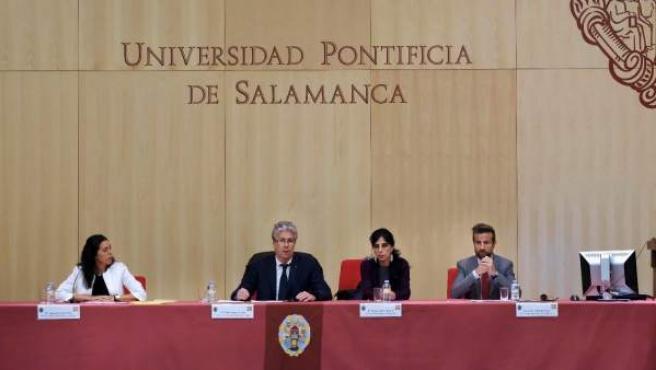 Inauguración de las jornadas en la UPSA.