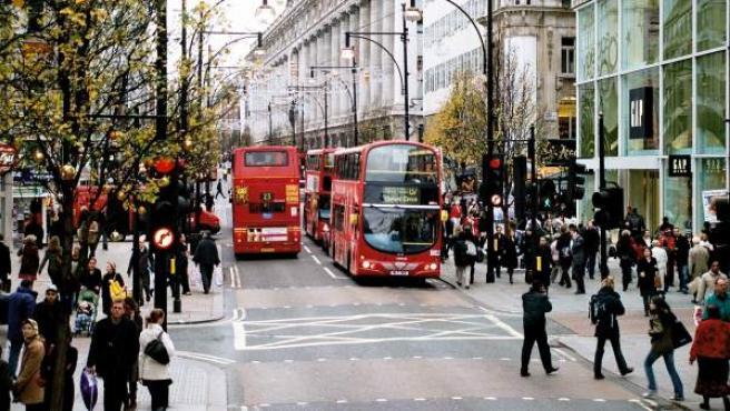 Oxford Street, una de las calles más comerciales de Londres.