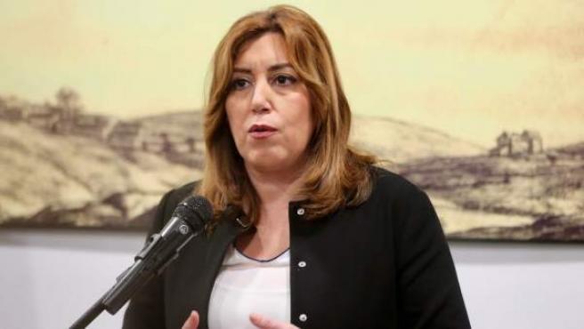 La presidenta de la Junta, Susana Díaz, durante un discurso.